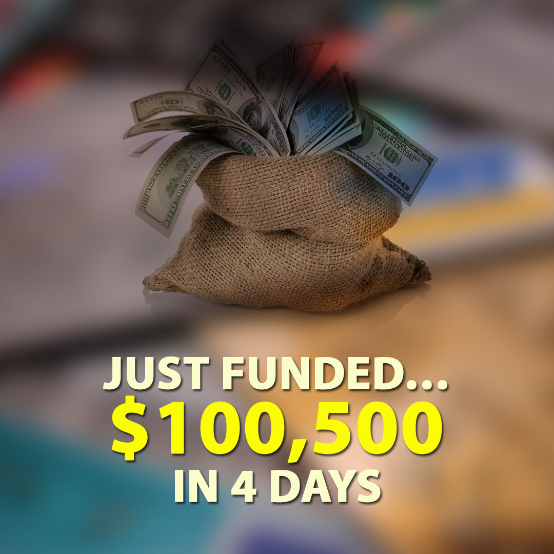 Just Funded $100500 in 4 Days 1080X1080