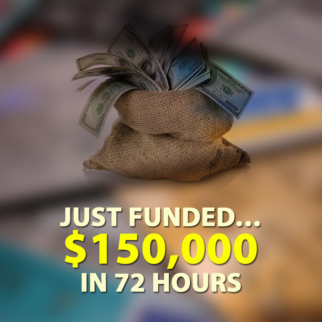 Just Funded $150000 in 72 Hours 1080X1080